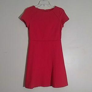 Adorable J Crew Knit A Line Red Dress Sz 0